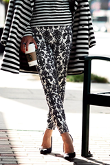 Matching prints and patterns - stripes make it easier