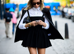 Little Black Dress ( LBD) with white blouse underneath