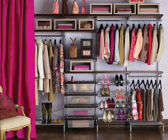 A closet full of clothes from an online boutique like Ivy and Pearl Boutique