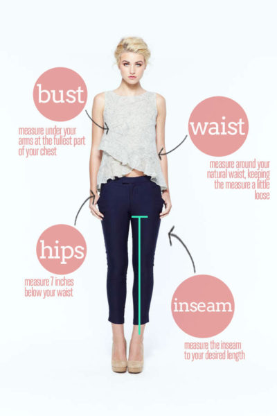 How to measure a woman's body for proper clothing fit