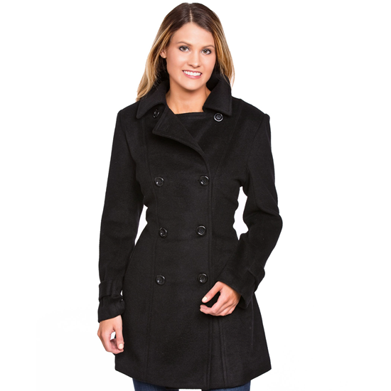 Wool double-breasted pea coat