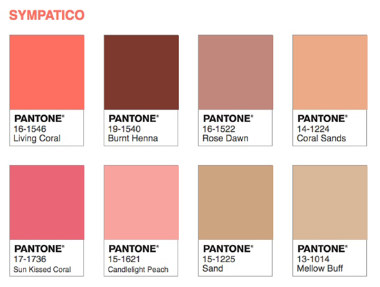 Color of the Year 2019 Living Coral - colors that match