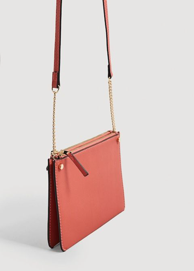 Color of the Year 2019 Living Coral - purse with gold trim